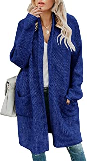 YONYWA Womens Plus Size Open Front Cardigan Chunky Knit Winter Warm Cozy Sweater