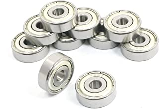 10pcs 4x13x6mm V624ZZ Sealed Ball Bearings Metal Roller V Groove Guide Pulley am