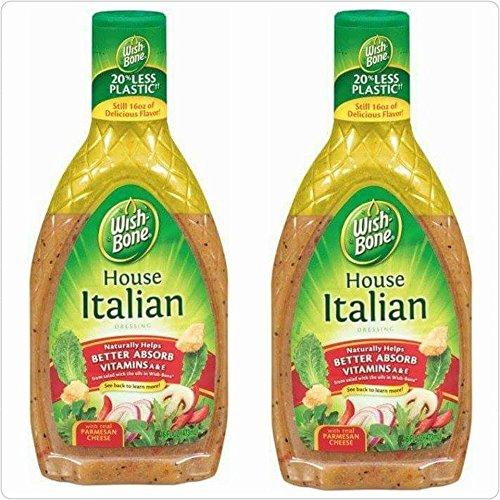Wish Bone House Italian Dressing, Pack of 2, 15 Ounce Bottles