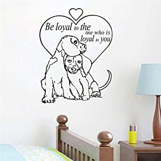 Wall Decal Sticker Be Loyal to The One Quotes Vinyl Wall Decal Dogs Love Pet Grooming Salon Shop Wall Paper for Living Room Decor Kids Room Decor