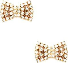 Kate Spade Sparkling Bow Stud Earrings - Clear / Gold