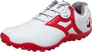 本間ゴルフ HONMA メンズ スパイクレス ダイヤルシューズ ホワイト/レッド 25.5cm 3E SR-1604 原産国:中国 素材:甲(人工皮革) 、底(合成ゴム)