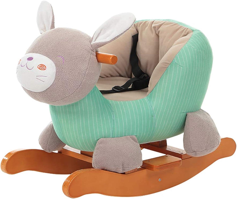 encuentra tu favorito aquí Caballo mecedora HUYP Trojan Baby Juguete Baby Rocking Chair Chair Chair Madera Maciza Edad Regalo Niños Rocking Horse Música (Color   verde)  barato en alta calidad