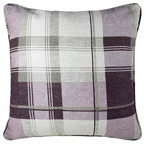 Fusion - Balmoral Check - 100% Cotton Cushion Cover - 43x43 cm in Plum