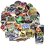 Stickers for Water Bottles Outdoor Stickers Nature Stickers Camping Stickers Adventure Stickers for Yeti Stickers for Cooler Stickers and Decals Waterproof Vinyl Stickers for Teens Boys Kids Girls 50Pcs