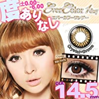 1dayカラコン 14.5mm エバーカラーワンデー クリスタル ブラウン1日使い捨て1箱10枚入りカラーコンタクトEver Color 1day 【PWR】-1.00