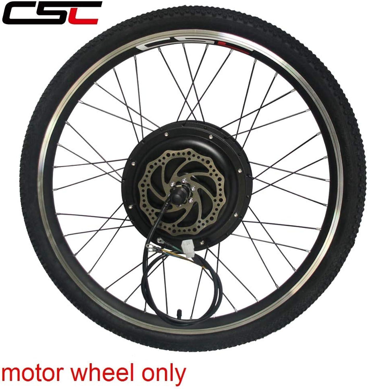 LOLTRA MTB EBike Rear Wheel with Hub Freewheel Disc Brake 48V 500W 1000W 1500W Electric Mountain Bicycle Conversion Kit for Rear Wheel