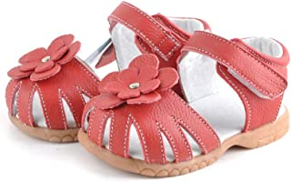 Girls Red Leather Sandal - Ages 1-2.5 yrs