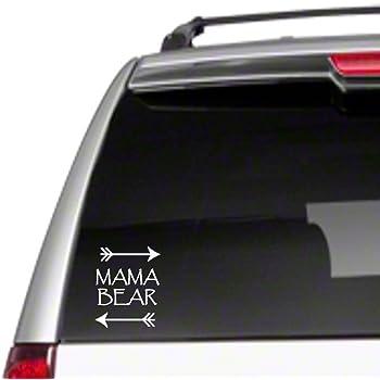 Mama Bear 1 CUB Vinyl Decal 5X5 White