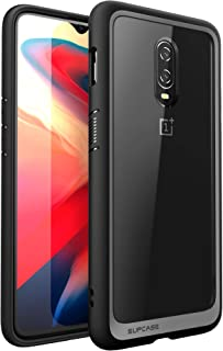 SupCase [Unicorn Beetle Style Series Case for OnePlus 6T, Premium Hybrid Protective Clear Case for 1+ 6t 2018 Release - Retail Package (Black)