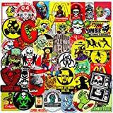 zombie water bottle - 50 pcs Hallowmas Zombie Stickers Punk Style Laptop Stickers Car Bicycle Suitcase Water Bottle Skate Board Mobile Phone Stickers Waterproof Ghastful Decals for Kids Teens (50pcs Zombie Stickers)