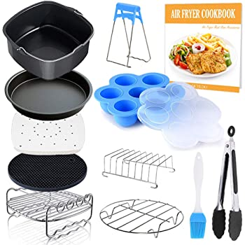 Amazon Com Square Air Fryer Accessories 11 Pcs With Recipe