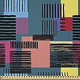 ABAKUHAUS Retro Microfaser Stoff als Meterware, Vintage