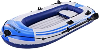 IUHI Inflatable Boat 3 Person Thickened Kayak Canoe Inflatable raft Rubber Boats Folding PVC Kayak for Adults Fishing Coas...