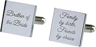 Cleo Bridal Father of The Bride Cufflinks Stainless Steel Gifts for Dad Wedding Cufflinks Gift