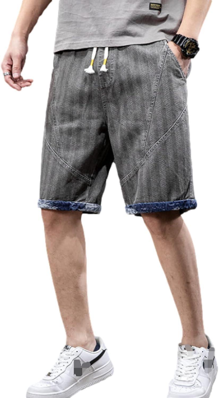 Men's Denim Shorts Summer Fashion Stitching Trend All-Match Comfortable