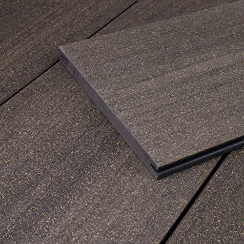 HORI® WPC Terrassendielen-Komplettset I Massivdiele Sylt I grau I Fläche: Muster I Dielenlänge:ca. 30 cm