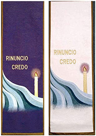 Holyart Paño de Atril Renuncio-Creo, Fondo Blanco, Blanco