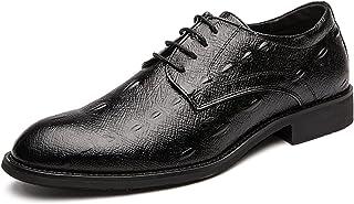 Zapatos casuales Zapatos de jin para hombres, color formal en relieve color sólido en relieve, encaje pulido tacón de punt...