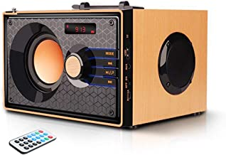 Portable Bluetooth Speakers with FM Radio Subwoofer Remote Control AUX USB, Clear Audio Rich Bass Wireless Home Desktop Sp... photo