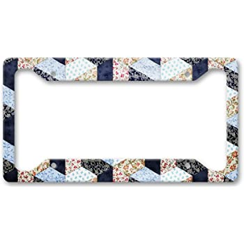 Serial Quilter On Board License Plate Frame Tag Speedy Pros Hide Your Fabric /& Chocolate