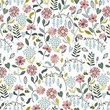 Hans-Textil-Shop Stoff Meterware Blumen Jolina Baumwolle -
