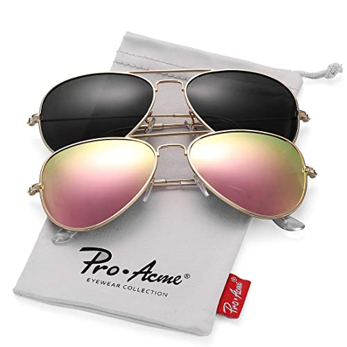 8079e98bce5f Pro Acme Classic Polarized Aviator Sunglasses for Men and Women UV400  Protection