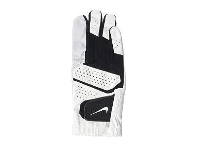 Nike Tech Extreme VI Regular Right Hand Golf Gloves (Pearl White/Pearl White/Black) Over-Mits Gloves