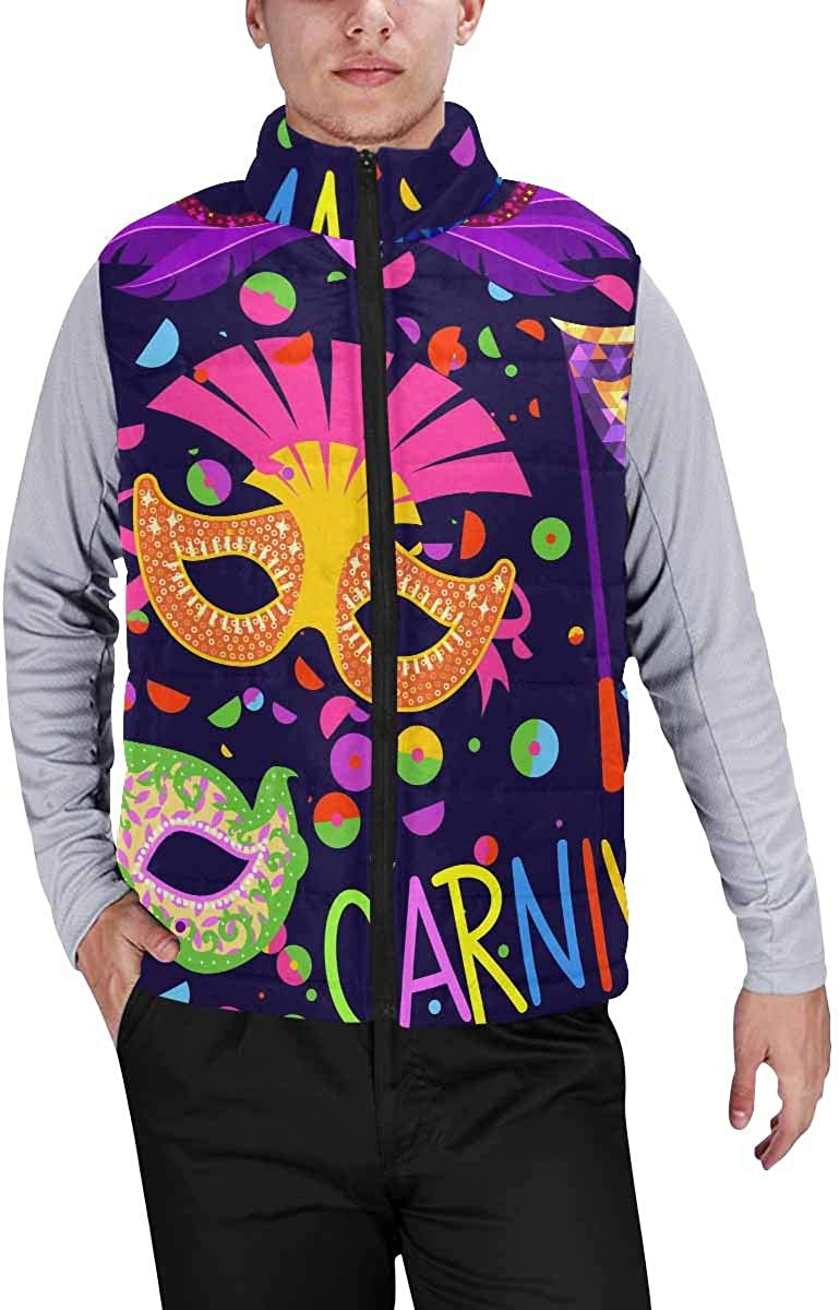 InterestPrint Men's Casual Sleeveless Coats with Personality Design Mothers Day Holiday