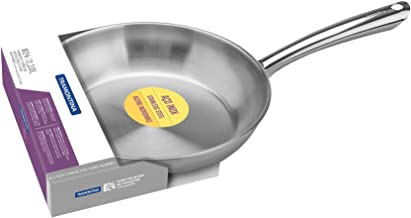 UNA Frying Pan, Diameter 24 cm, 2.1 litres, Stainless Steel, All Hob Types, Oven Safe