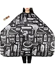 Lictin Hair Apron Hair-cutting Gown Barber Cape Water-repellent Anti-static Dyeing Salon Apron for Haircut Apron Nylon Cloth with a Neck Brush Perfect for Cutting, Colouring, Highlights