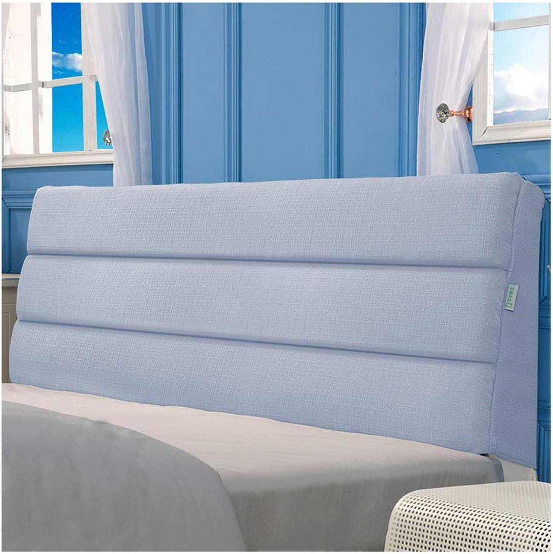PilFaibles-ZHIHOME Coussins De Lecture Oreillers Lecture Coton Et Lin Soft Case Coussin Dosseret Tissu Oreiller Dossier Lavable (Bleu gris,120x50x5cm)