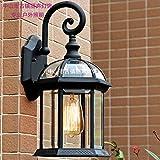 Oferta Especial De Luz Fuente De Luz Para Exteriores Lámpara De Pared Impermeable Lámpara De Pared Para Jardín Lámpara De Jardín Villa Exterior Lámpara De Pared,Negra Para Enviar La Fuente De Luz
