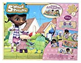 Doc McStuffins - 5 Wood Puzzles (80 Pieces Total) with Storage Tray and Box by Disney