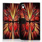 wicostar Wallet Book Style Flip Handy Tasche Hülle Schutz Hülle Schale Motiv Etui für LG L Bello 2 - Flip UMH14 Design5