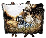English Setter - Robert May - Cotton Woven Blanket Throw - Made in The USA (72x54)