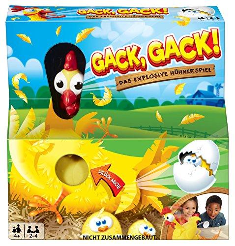 Mattel Games FRL48 - Gack Gack lustiges Hühnerspiel und Kinderspiel geeignet für 2 - 4 Spieler, Kinderspiele ab 5 Jahren