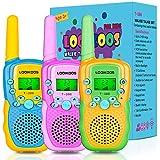 LOOIKOOS Walkie Talkies for Kids, 3 KMs Long Range Children Walky Talky Handheld Radio Kid Toy Best...