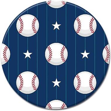 SSHHJ Tapis Absorbant Lavable en Polyester De Tapis Rond De Baseball 3D, Adapté Au Tapis De Rampement pour Enfant De Chaise D