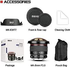 Meike MK-F-8-3.5 8mm f/3.5 Fisheye Lens for Nikon DSLR Camera D500 D810 D800 D3200 D5500 D5600 D7000 D7100 with APS-C/Full Frame