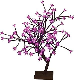Hi-Line Gift Ltd Floral Lights LED Bonsai Tree, 208-Inch, Pink