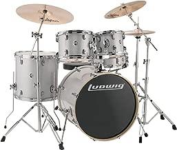 Ludwig Element Evolution 5-Piece Drum Set with Zildjian ZBT Cymbals - 22 Inches - White Sparkle