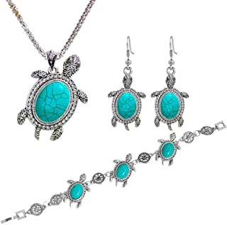 YAZILIND Boho Flor Colorida Colgante Collar Colgante Pendientes Mujeres joyer/ía Conjuntos Retro Vintage /étnico Accesorios de Verano