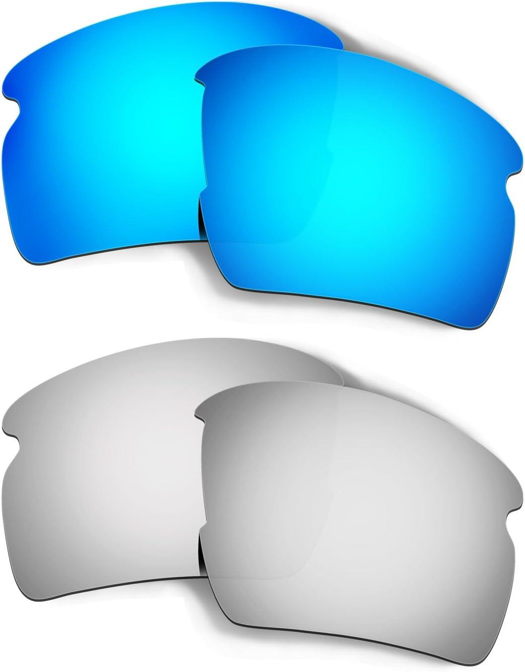 HKUCO Replacement Lenses for Oakley Flak 2.0 AF OO9271 Sunglasses Blue/Titanium