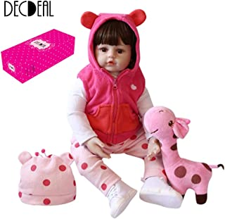 Docooler 23in Reborn Baby Rebirth Doll Kids Gift Cloth Material Body