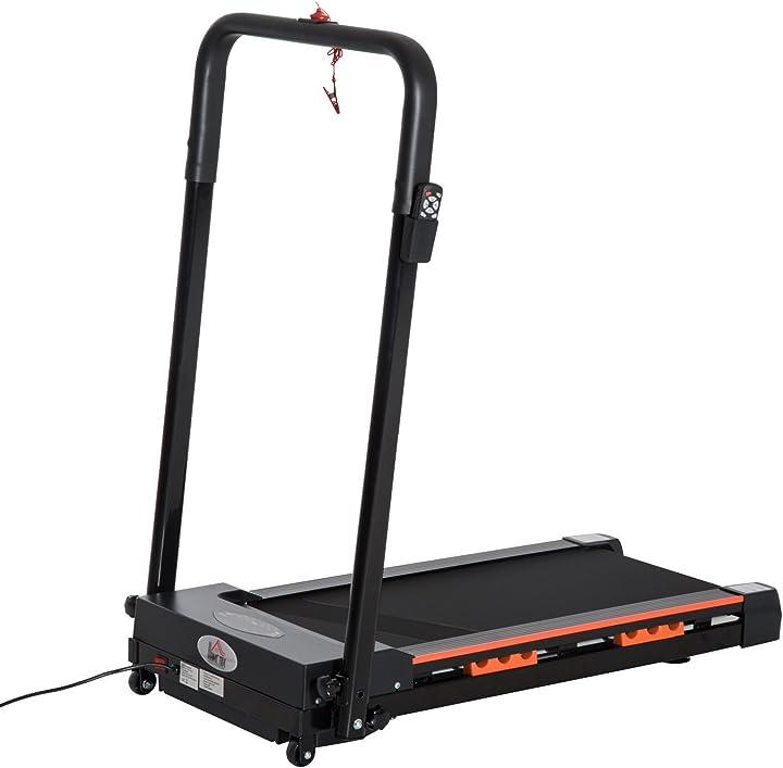 tapis roulant elettrico pieghevole salvaspazio con telecomando potenza homcom a90-131