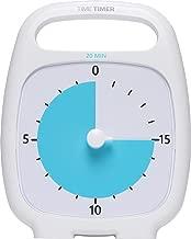 Time Timer PLUS 20 Minute Visual Analog Timer Optional Alert (VolumeControl Dial) No Loud Ticking; Time Management Tool