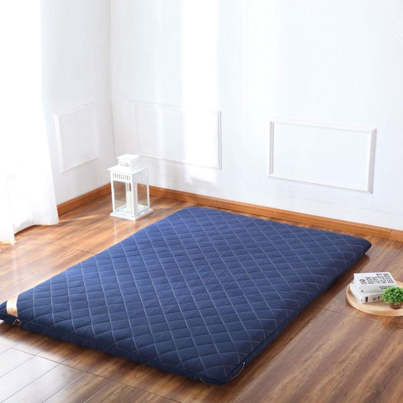 Thicken Premium Sleeping Mattress pad, Japanese Futon Matt mat Bed roll Quilted Fitted Mattress for Student Dormitory,Home-bluee 90x200cm(35x79inch)