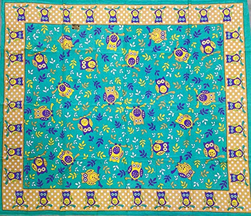 Seamar Toalla cubretodo Grande búhos 210 x 250 cm 100% algodón Estampado