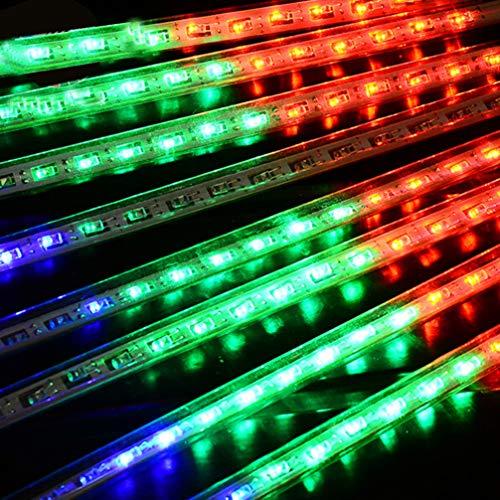 SOLUSTRE - Lámparas de lluvia (8 tubos, 8 tubos, impermeable, para Navidad, jardín, boda, árbol)